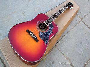 Guitarra acústica popular de 41 pulgadas con diapasón de palisandro, PickGuard, cuerpo de encuadernación, 20 trastes, Oferta personalizada
