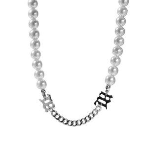 colar de moda-Hoker para o designer mulheres luxo pérolas colares cubano corrente de ligação ins colar de moda hip hop hip hop jóias dom amor