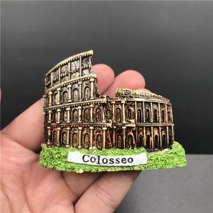 Resin Fridge Magnet Rome Italy France Spain Travel Souvenir Refrigerator Magnetic Sticker Craft Home Decor Souvenir
