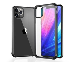Applicable iPhone11 mobile phone case Apple 11 pro max protective cover four corner anti-drop cover acrylic hard shell airpods case