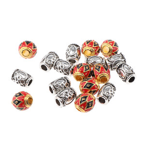 18Pcs Alloy Spacer Beads Hair Braiding for DIY Crafts Bracelet Necklace Jewelry Making Supplies Set