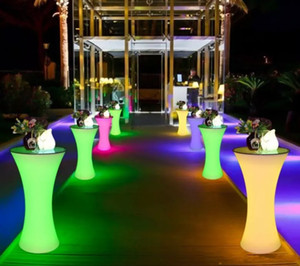 New living room furniture Rechargeable LED Luminous cocktail table waterproof glowing up Chair coffee bar kTV disco party supply