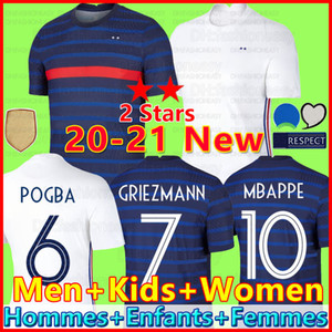 France soccer jersey football shirt 2020 França camisa de futebol 100º aniversário 100 anos 2 estrelas New Jersey Futebol 19 da equipe Copa do Mundo Griezmann Mbappé 2021 2022 21