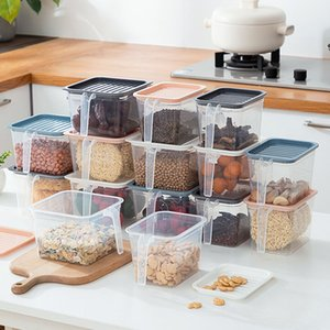 Haushalt Kühlschrank Storage Box-Frucht-Gemüse-Aufbewahrungsbehälter Küche Debris Finishing Organizer mit Deckel Container