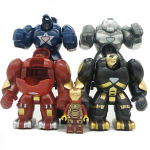 Super Heroes Marvel Мстители Железный Человек Hulkbusters Модель Рисунок Блоки Совместимость Строительный Кирпич Игрушки Для Детей Подарочные Игрушки