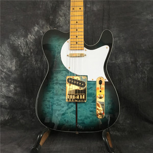 Custom Shop Мерл Хаггард Подпись Tuff Dog TL Tele Кастер электрическая гитара, SUPER RARE, синий взрыв, Gold Hardware