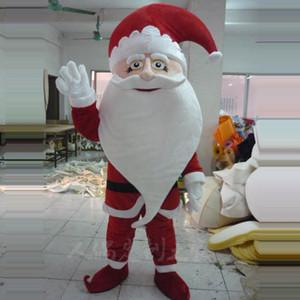 Noel Baba Maskot Kostüm Christams Fantezi Parti Elbise Yetişkin Çocuk Maskotlar