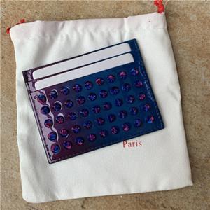 Nouveau titulaire de la carte ultra-mince en cuir véritable pick-up pour les hommes et les femmes ensemble compact porte-carte jeu de carte bancaire
