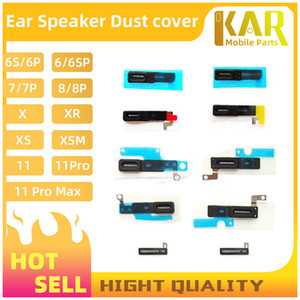 100 stücke LCD-Ohr-Mesh-Klebstoff-Ohr-Lautsprecher für iPhone 11 Xsmax XS x XR 8 7 6S 6 plus 5 5s Innen-Ohr-Ohrhörer-Lautsprecher Anti-Staubgrill-Mesh-Netz