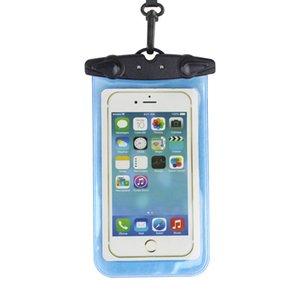 Мобильный телефон Водонепроницаемая сумка 5.5-дюймовый плавательный мешок 6-дюймовая водонепроницаемая сумка Водолазная куртка Герметичная водонепроницаемая куртка Большой экран мобильного телефона