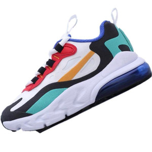 01 2019 React270 Kids Stretch Knit Breathable Running Shoes Originals React270 Zoom Air and React Kids Cushioning Jogger Shoes
