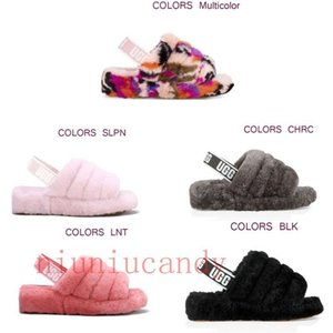 2020 new women furry slippers australia fluff yeah mulitcolor slide designeruggscasual boots fashion women sandals fur slides slippers78dd#