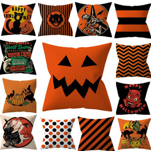 Halloween Kissenbezüge Abdeckung Kürbis Gestreiften Dekokissen Fall Home Sofa Auto Dekorative Weihnachten Home Dekorative Ohne Kern HH9-2282