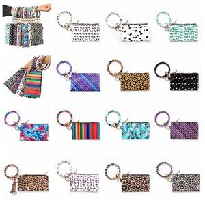 Браслеты брелок кошелек браслет Keychian леопардовый браслет повесить кошелек брелок браслет для женщин Девушки портмоне макияж сумка 40 шт. T1I1787