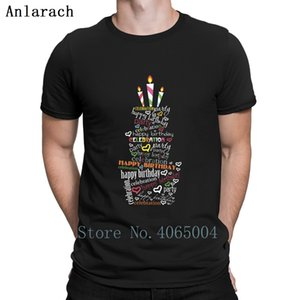 Happy Birthday T Shirt Loose Casual Cotton Spring Autumn Homme Letter Custom O Neck Shirt