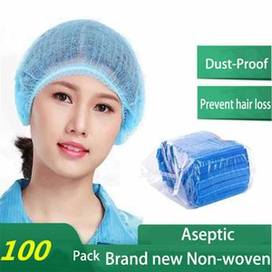 En stock! Livraison gratuite! 100pcs à usage unique cheveux net Charlottes non tissé extensible Dust Cap Head Couverture