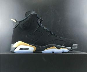 Yeni 6 DMP Black Gold Küçük Goldman Siyah Metalik Altın Paketi 23 Basketbol ayakkabı erkekler tanımlanması Anlar Süet Sneakrs Spor
