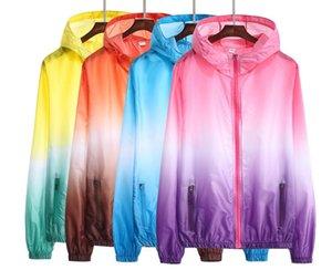 Yizlo ceket rüzgarlık erkek kadın jaqueta masculina kolej ceketler yaz Renkli Ultrathin rashguard