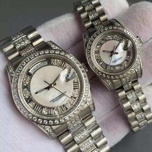 Lüks Otomatik saatler mens için Altın paslanmaz çelik Adam Sınırlı elmas mekanik İzle Erkekler 36 MM Kadınlar 26 MM Moda severler saatı