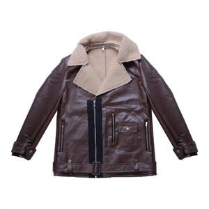 Yeni Sıcak Moda Erkekler Yün Coat Kış Hendek Deri Ceket Dış Giyim Palto Ceket Fabrikası Ücretsiz Kargo