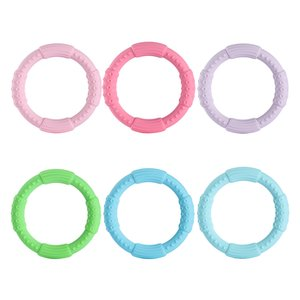 Silicone Bracelet Teether Baby Teething Rings Chew Wristband Food Grade Silicone BPA Free
