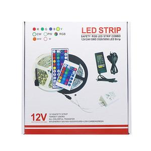 Edison2011 30LEDs RGB LED Strip Light IP20 5050 Flexible Ribbon LED Light Strip DC12V 5M Remote Full Kit for Indoor in Retail Box