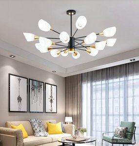 Nordic style living room chandelier simple modern atmosphere household dining room lamp creative personality postmodern bedroom lamps A023