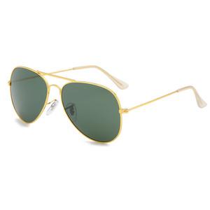Ray de lujo de marca gafas de sol polarizadas Hombres Mujeres piloto gafas de sol UV400 Eyewear Frame 3025/3026 Gafas de sol polarizadas lente metal