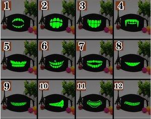 1pc bouche noire Coton Demi Masque de haute qualité 1pc unisexe Cartoon dents drôles Lettre DHL pour plus 100PCS