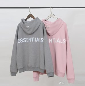 Fashion FOG Hoodie Fear Of God ESSENTIALS 3M Reflective Letter Printing Pullover Hoodie 19SS High Street Casual Hoodie