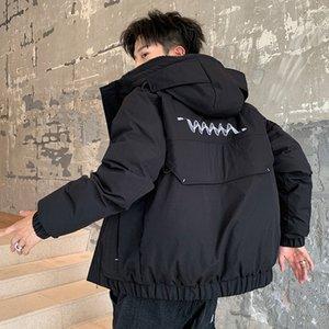 Inverno Abbigliamento Uomo Trend Facile ispessimento Aumentare Giù Student Cappotto allentato giù i vestiti di cotone in inverno cotone imbottito Jacket