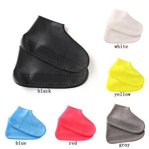 Silicone impermeabile pioggia scarpe stivali di copertura resistente a prova di Skid Rainproof esterna Escursionismo Rain Boots Home Accessori KHA092