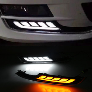 1 par LED diurnas cobertura Car Light Acessórios ABS 12V DRL Fog Lamp Para VW Volkswagen Golf 7 2013 2014 2015 2016