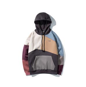 Designer Herren Zauber Farbe Hoodies Homme Hut Kragen Plus Samt Pullover Hoodies Männliche Mode Bunte Tops