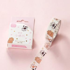 1PC simpatico gatto nastro, rosa fioretto Cherry Blossom nastro floreale fiore Washi Tape, griglia Scrapbook Supplies adesivi Scrapbooking 2016