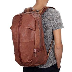 Ямайский доллар загорелые рюкзак кожаный мужской для студента дополнительную школу большие рюкзаки 7340B