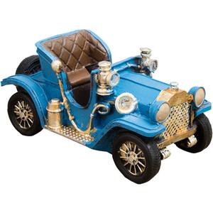 Regalos hechos a mano del coche de metal Figuras Ornamentos de la decoración del hogar de hierro Motocicleta vieja hecha a mano autobús Crafts niños de juguete de cumpleaños Crafts