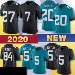 7 Nick Foles Homens Jerseys 20 Jalen Ramsey Jerseys 27 Fournette 5 Blake Bortles 84 Keelan Cole costurado 2020 Football Jerseys Hot