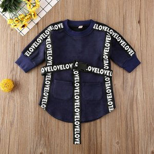 6M-5Y Toddler Baby Kid Girls Letter Straight Dress Autumn Winter Long Sleeve Party Dresses For Girls Children Costumes