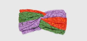 Знаменитая роскошная высококачественная кружевная повязка на голову женщины эластичные ленты для волос ретро тюрбан мода девушки головные уборы подарки весна осень аксессуары для волос