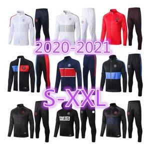 2019 2020 파리 19 20 VERRATTI 축구 조깅 남성 재킷 MBAPPE POGBA Survetement 파리 남자 축구 훈련 정장 운동복