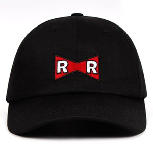 RR Baseball Cap Dragon Ball Dr.Gero Dad Hat 100% Cotton Red Ribbon Army Delicate Embroidery Snapback Caps No structure Hat