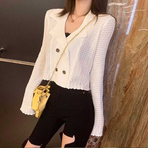 Knitted Cardigans Autumn Style Crop Top Womens Sweaters Vintage Hollow Out Fashion Brand Ladies Tops Designer Missoov Loose New