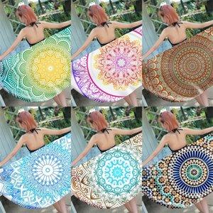 Polyester Mandala Fiber De Bain Serviette Rectangle Impression Serviettes De Plage Fibres Ultrafines De La Mode Créative Avec Différents Styles 14cs J1