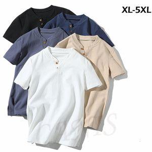 2019 Pamuk Keten Erkekler T-Shirt Slim Fit Casual Kısa Kollu Yaz Giysileri Tops Katı Pamuk Keten Temel Tee