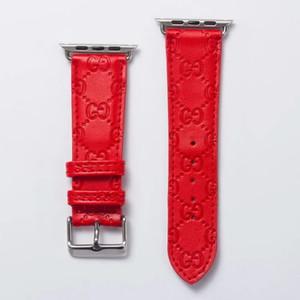 Pour 38mm 44mm 42mm 40mm en relief pour les bandes d'Apple Montre de mode de luxe de watchbands Ceinture en cuir intelligentes bracelets de montres Bracelets A05