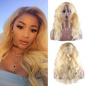 Vague corporelle brésilienne Cheveux humains 613 Perruques blondes Prequine 360 en dentelle frontale avec cheveux bébé 150 Densité Natural Cheveux