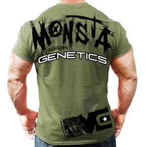 Nueva camisa de verano para hombre T Gimnasios Crossfit fitness culturismo Moda masculina corta de algodón marca de ropa Tee Tops