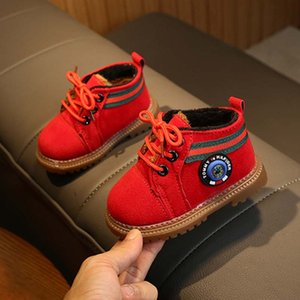 Günstige Kinderschuhe Jungen-Mädchen-Baby-Martin Stiefel Warm Anti-Rutsch-Kleinkind-Schuhe für schwangere Frauen Kinder rot + schwarz + braun Italien Frankreich Größe 16-20