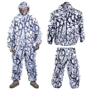 Hunting Clothes Ghillie Suit White Snow Camouflage Maple Birdwatch And Leaf Clothes Hunting Include Pant Jacket 3d U2H2
